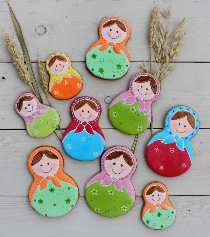 Russian dolls cookies