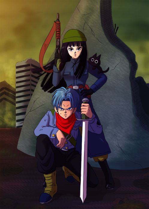 Trunks y Mai del futuro  Dragon Ball Super 2016 Artista: あめねこ