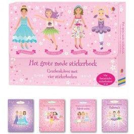 uitgeverij usborne geschenkdoos met vier stickerboeken