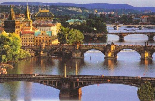 Praag, bruggen over de Moldau