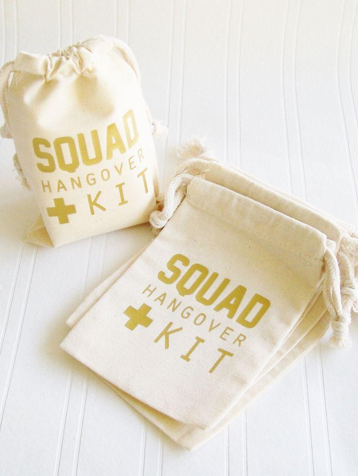 Squad Hangover Kit Bag, Bachelorette Paryt 21st Birthday survival kit,  Squad…