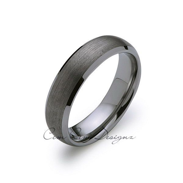 6mm,New,Unique,Gun Metal Gray Bushed,Tungsten Rings,Wedding Band,Matching,Bevel