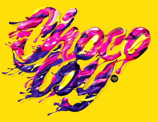 Chocography by ChocoToy , via Behance