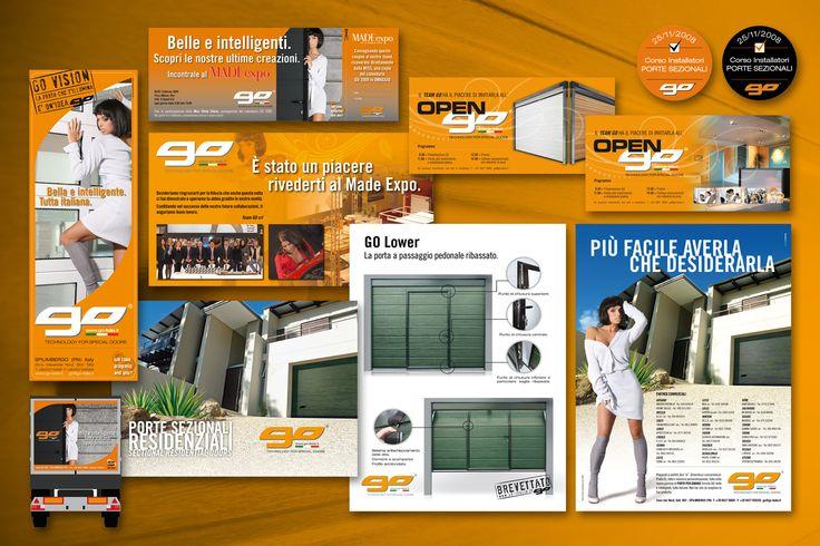 go italia materiali di comunicazione: depliant, brochure, pagine pubblicitarie, schede prodotto