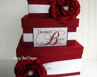 Caja de tarjeta de boda recortar Bling por LaceyClaireDesigns
