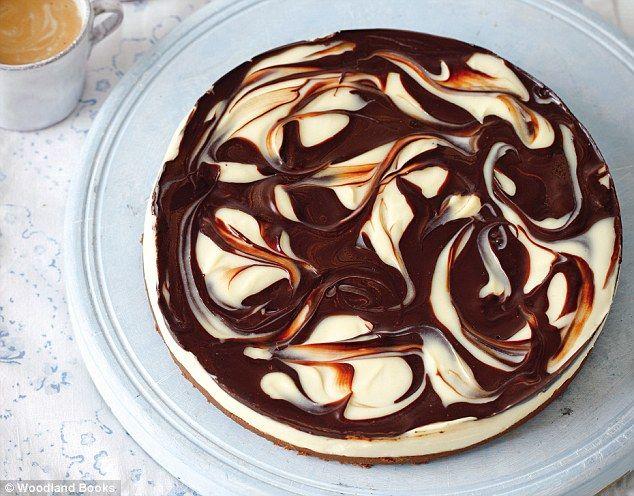 DONE! Mary Berry food special: Chilled marbled  chocolate cheesecake  Read more: http://www.dailymail.co.uk/home/you/article-2271305/Mary-Berry-food-special-Chilled-marbled-chocolate-cheesecake.html#ixzz2hpU0gP9P  Follow us: @MailOnline on Twitter | DailyMail on Facebook
