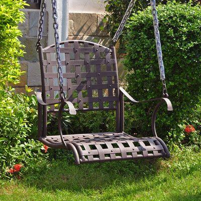 Schön Alcott Hill Schilling Porch Swing Finish: Matte Brown