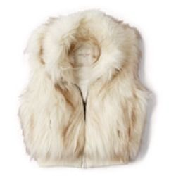 FABULOUS FUZZY VEST    Forever 21 Girls - A fuzzy vest featuring a full zipper placket. Ribbed waist. Fully lined. Woven. Lightweight. DETAILS:16.5'' approx. length from high point shoulder to hem, 28'' chest, 28'' waist...