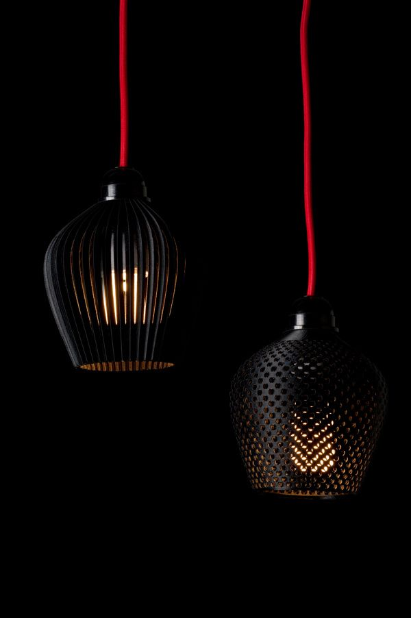 DENTELLE (3D printed) lampshades by Samuel Bernier