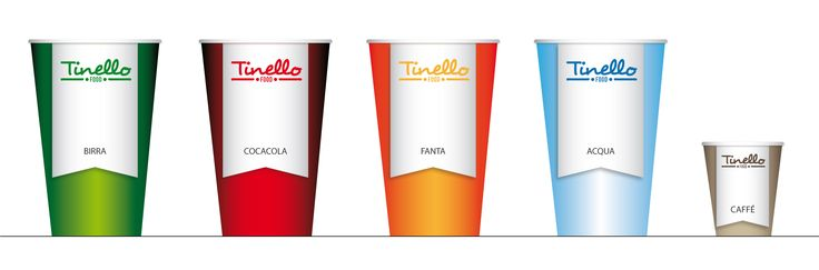 Food. Logo and corporate identity. Illustator - Paper cups.
