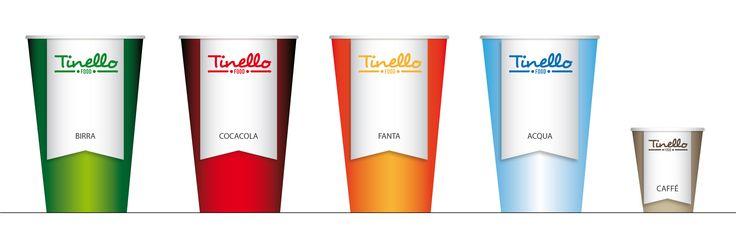 Food. Logo and corporate identity. Illustator - Paper cups.