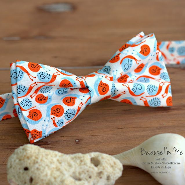Because I M Me Super Small Snails Bow Tie For Men