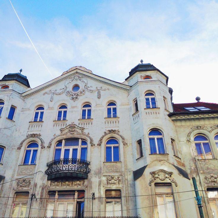 old town architecture in Bratislava, Slovakia, Europe