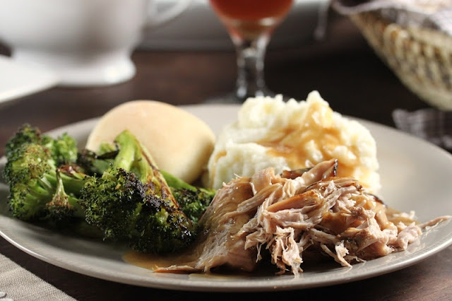 From another pinner: Trisha Yearwood's Crock Pot Pork Loin.  OUT OF THIS WORLD delicious!!  I did not brown the meat beforehand, so omit the vegetable oil as ingredient and omit an extra pot for cleaning!