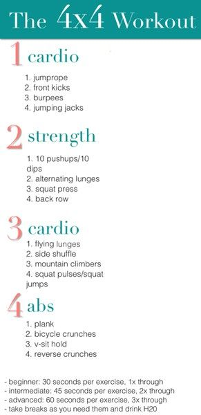 4x4Website, 4X4 Workout, Interval Workout, Workout Plans, Body Workout, Cardio Workout, Ab Workout, At Home Workout, Circuit Workout