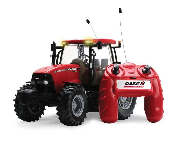Der Spielzeugtester hat das TOMY Britains Traktor RC Case IH 140 Big Farm in rot…