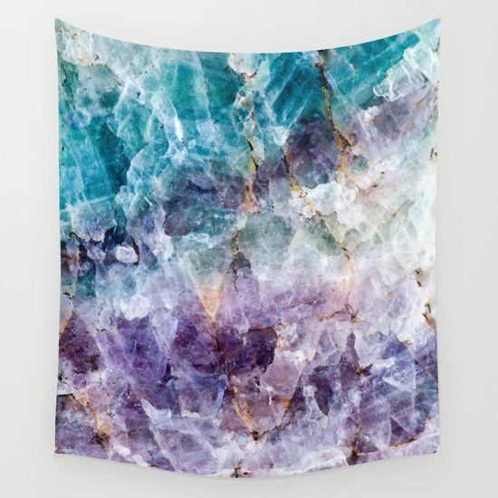 Turquoise & Purple Quartz Crystal