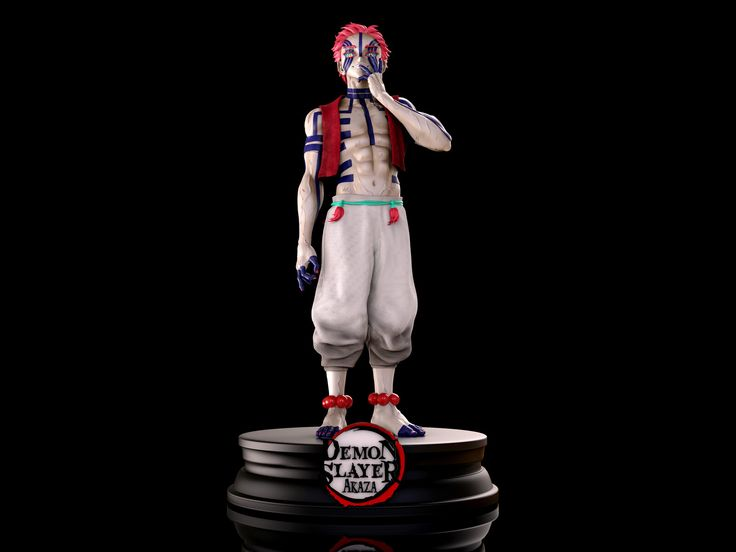 Artstation Akaza Demon Slayer Ezequiel Politano In 2021 Character Modeling Slayer Anime Figurines