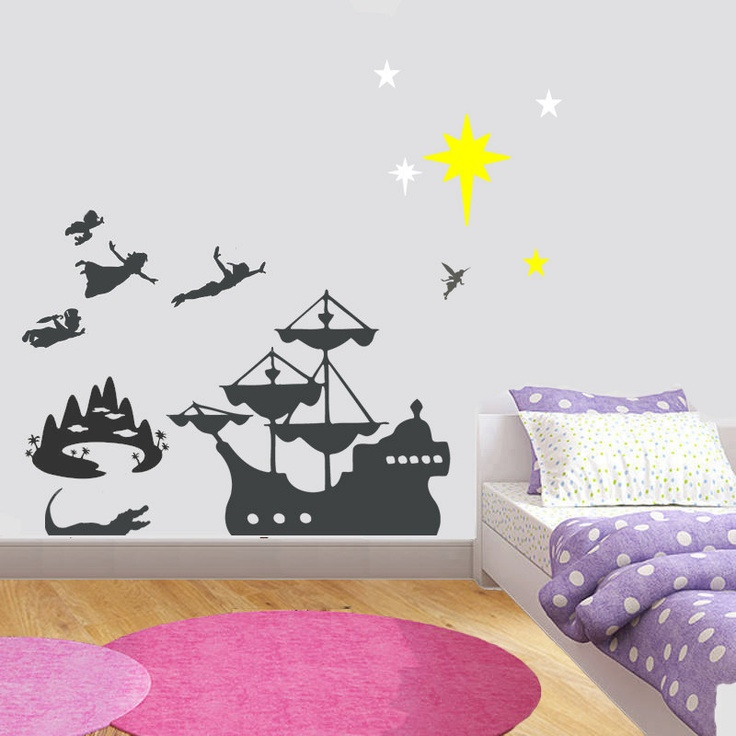 95 best images about peter pan room on pinterest peter pan nursery peter pan silhouette and. Black Bedroom Furniture Sets. Home Design Ideas