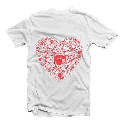 Love Music _ band musik dari tees.co.id Oleh ROXXSETH