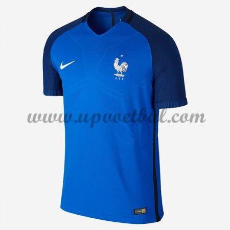 Goedkope Voetbalshirts Frankrijk Elftal Tenue 2016 Korte Mouw Thuisshirt