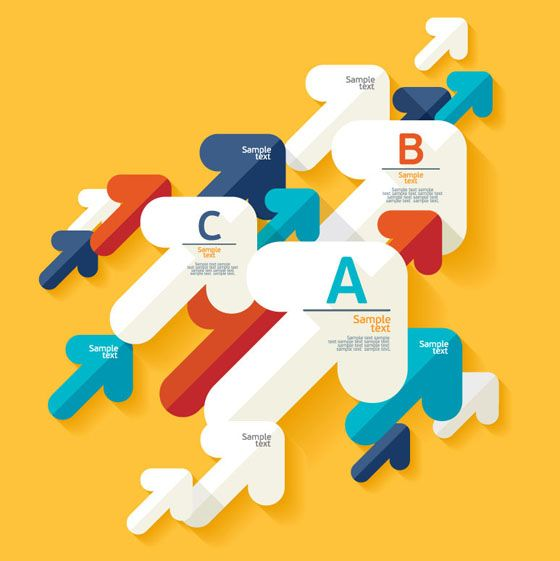 Creative arrow business background vector