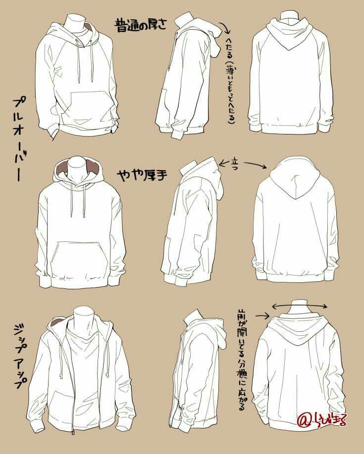 Baggy Jacket Drawing Clothes Hoodie Drawing Clothing Sketches