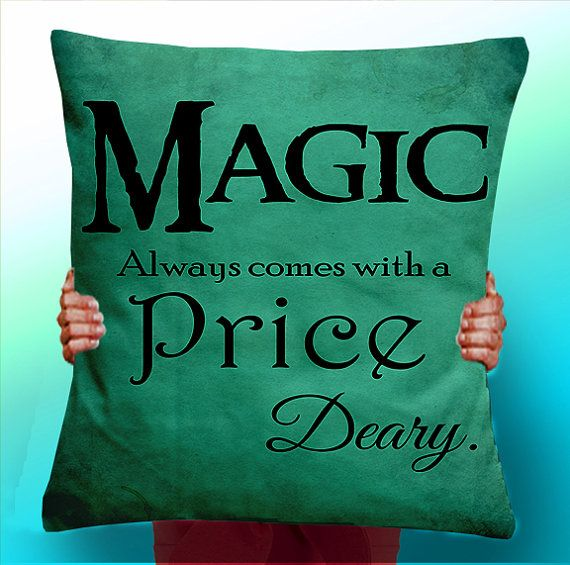 Once Upon a Time rumpelstiltskin Magic always comes at a price deary - Cushion / Pillow Cover / Panel / Fabric