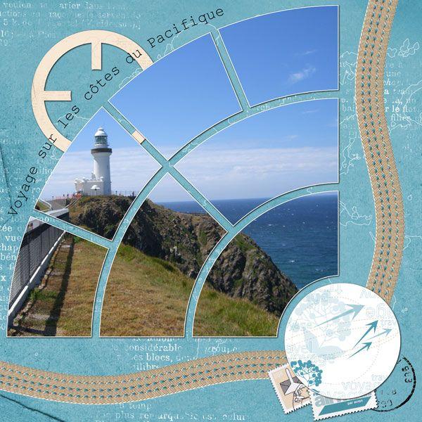 Scrap européen : photo coupée en arcs-de cercle reconstituant un quart-de-cercle
