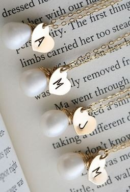 bridesmaid necklaces :: love!
