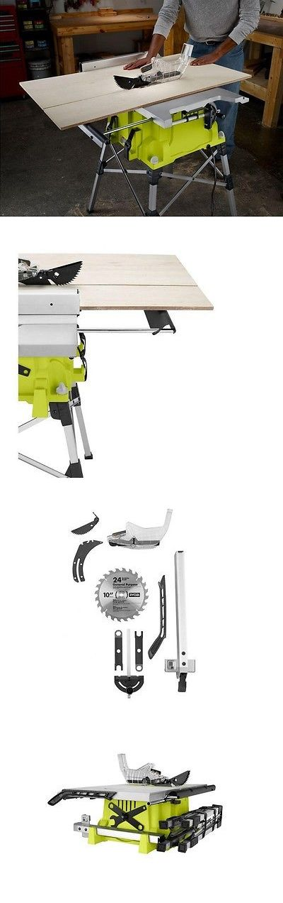 Table Saws 122835: Ryobi 10 Portable Table Saw With Quick Stand Rts21g 15-Amp Motor Green -> BUY IT NOW ONLY: $277.89 on eBay!