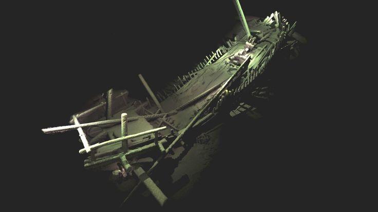 'Nunca se había visto nada parecido', dicen los científicos que descubrieron un mundo perdido de naufragios -- Una imagen de la embarcación medieval que se encontró en buen estado al fondo del mar Negro, entre los más de 40 restos descubiertos. La fotogrametría, un proceso en el que se utilizan miles de fotografías y variables, produjo representaciones que parecen tridimensionales.
