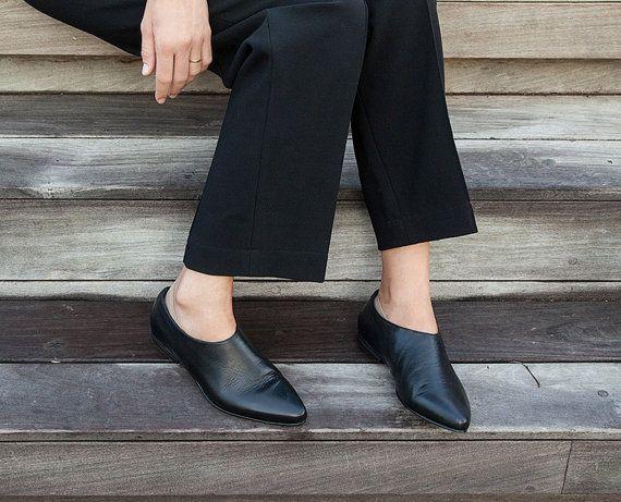Zapatos formales para damas ~ pisos de zapatos de noche ~ resbalón en los…