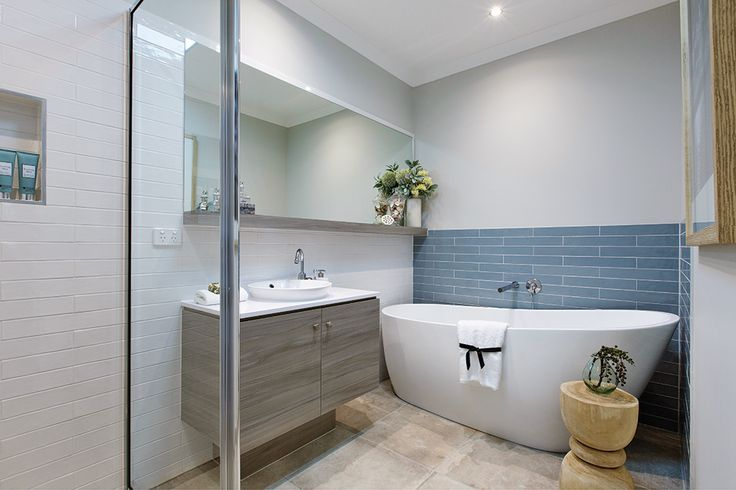 Bathroom in the Vancouver display with a Classic Hamptons World of Style.