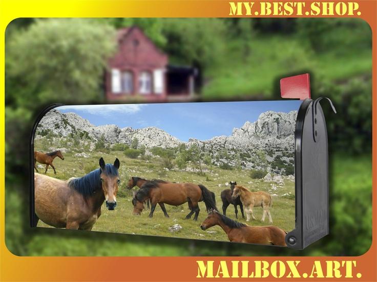 US-Mailbox - Amerikanischer Briefkasten    Die wetterfeste und UV-beständige Vinyl-Beschichtung und das Design wird in unserem Hause hergestellt.   An