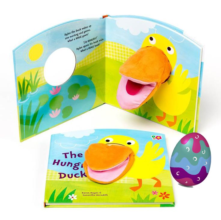 DAY 3 FIND: A puppet in a book - the egg was hiding with the Meadow Kids The Hungry Duck Hand Puppet Book! #easter #easter2016