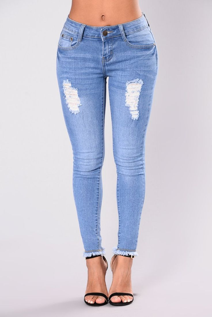 Harper Jet Skinny Jeans - Light Blue Wash