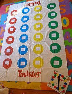 Sight word twister....more ways to make reading fun!