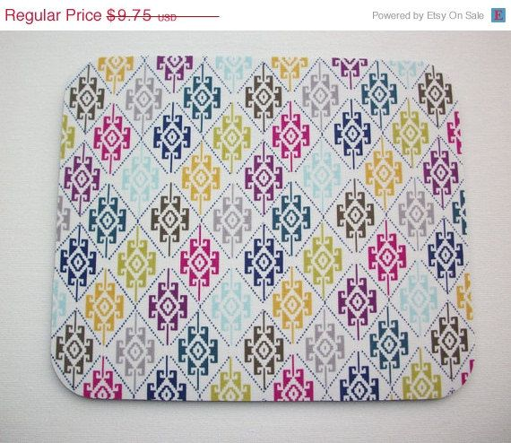 SALE  Mouse Pad mouse pad / Mat  aztec southwestern by Laa766  chic / cute / preppy / computer, desk accessories / cubical, office, home decor / co-worker, student gift / patterned design / match with coasters, wrist rests