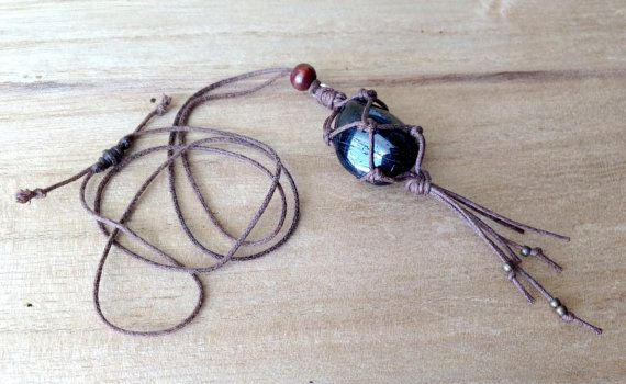 Unisex macrame style necklace SOLD by TheSoulfulBohemian --