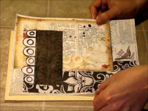 ▶ Page Backgrounds - Art Journaling Video #2 - YouTube Very good video