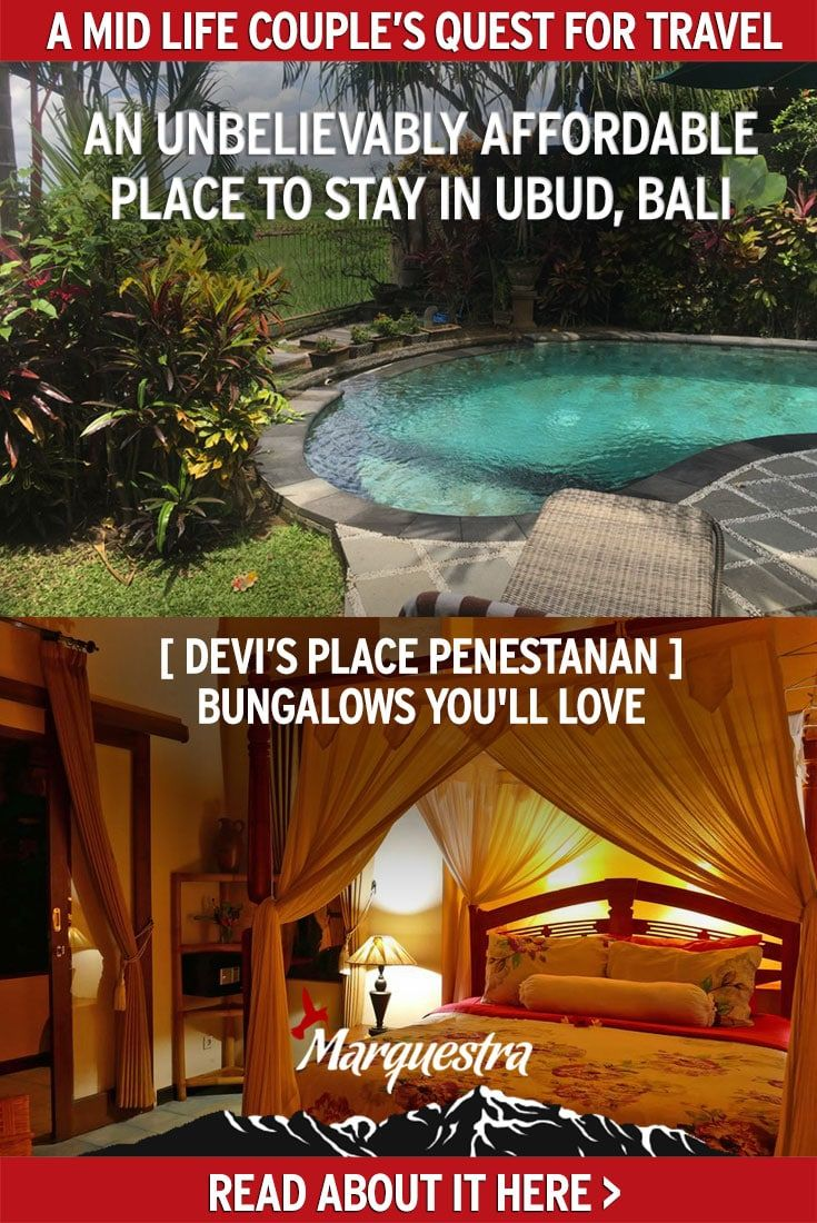 Devi's Place stood out on several points while fulfilling many necessary criteria's such as a pool, AC and kitchenette. This post will convince you that Devi's place is one of the unbelievably affordable villas in Ubud, Bali that you'll love. #ubudbali #penestananbali #balivilla #coupletravel #traveldestinationsforcouple #indonesia
