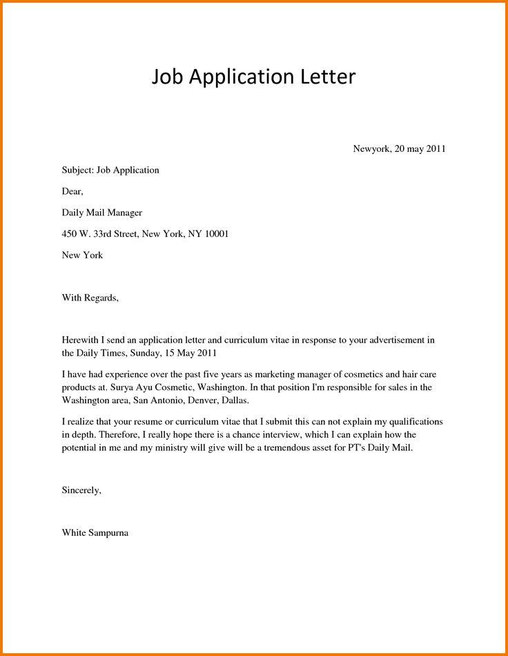 sample of good cover letter
