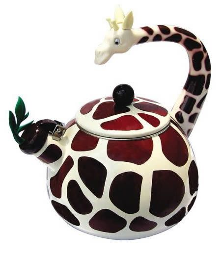 """Unique Giraffe Tea Kettle - Described as both """"Cute"""" and """"Ridiculous"""" by reviewers! Description from hotbrain.hubpages.com. I searched for this on bing.com/images"""