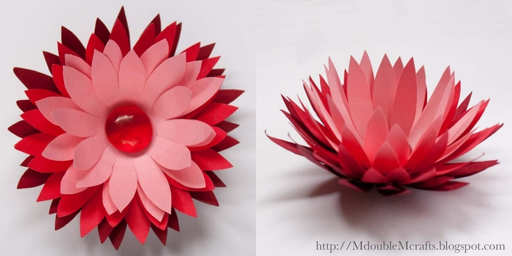 M double M: Ombre water lily paper flower (tutorial).