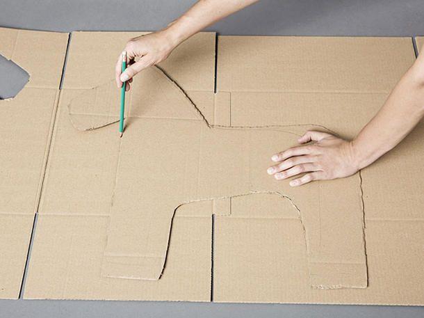 Anleitung für eine Einhorn-Pinata: Die zweite Form basteln