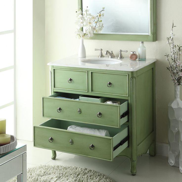 Pretty Design Ideas Bathroom Vanity Vintage Cabinets ...