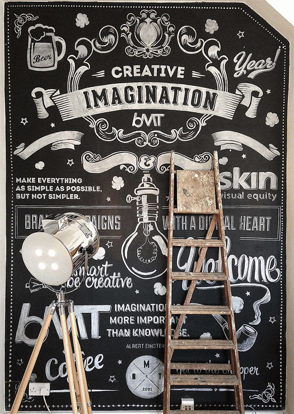 Inspirational Chalk Lettering Designs & Wall Murals... I wish I had the skill to be able to create something like this...