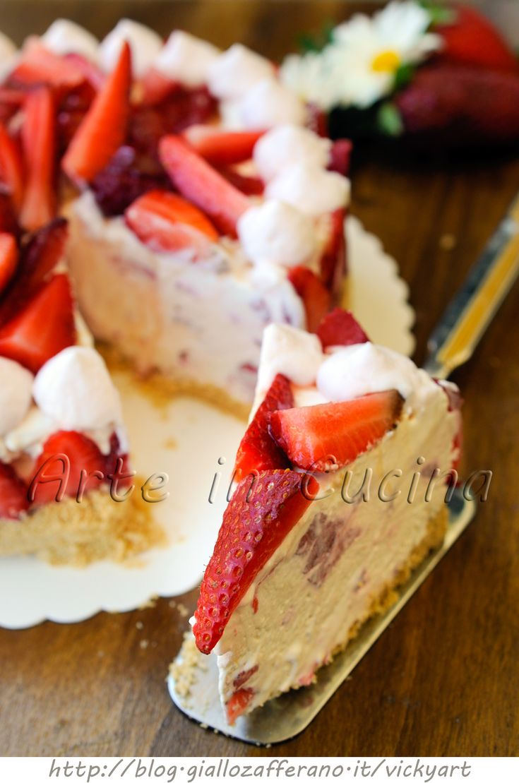 Cheesecake alle fragole con mascarpone senza forno vickyart arte in cucina