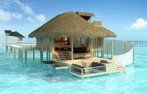 Beach House, The Maldives Islands - Man...  My wife and I have fantasized about staying in one of these for a week many many times.